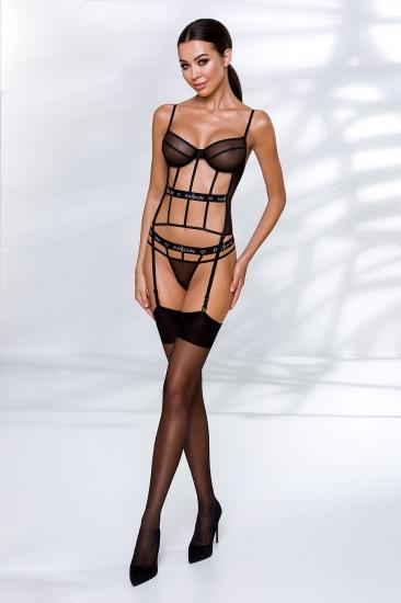 passion lingerie Kyouka corset Black корсет