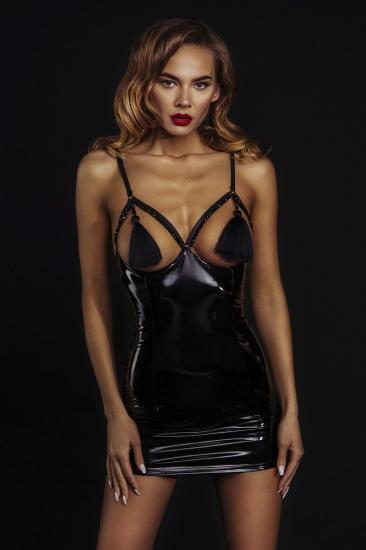 devil & angel 7084 Платье лакированное