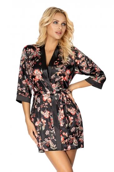 donna халат Paris dressing gown Black