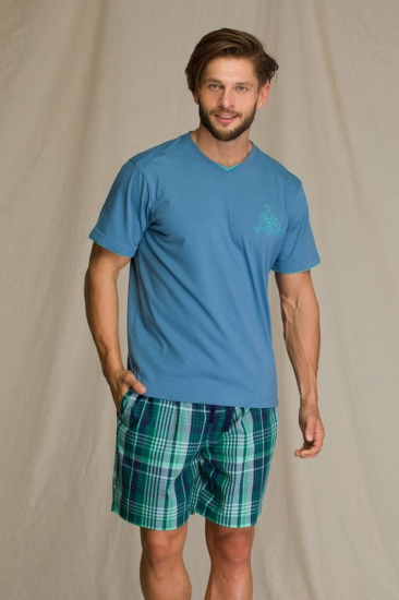 key MNS 714 A21 Пижама мужская с шортами