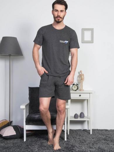 vienetta №811313 0000 Комплект мужской -Gazzaz с шортами размер XXL Темно-серый