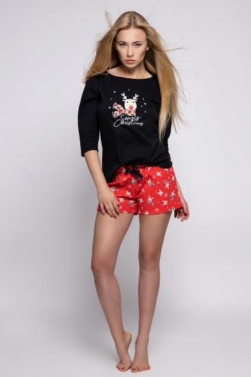sensis CUPID Пижама женская с шортами размер 40 (L) Черный + красный