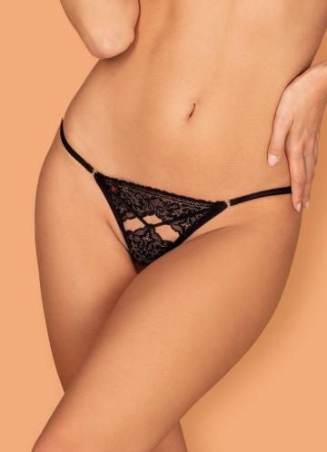 obsessive MESHLOVE Thong crotchless Трусы стринги размер S/M Черный