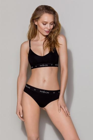 Трусы passion lingerie PS009 panties Black трусики-бразилиана