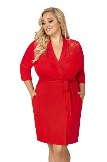 donna Tess plus dressing gown Red халат