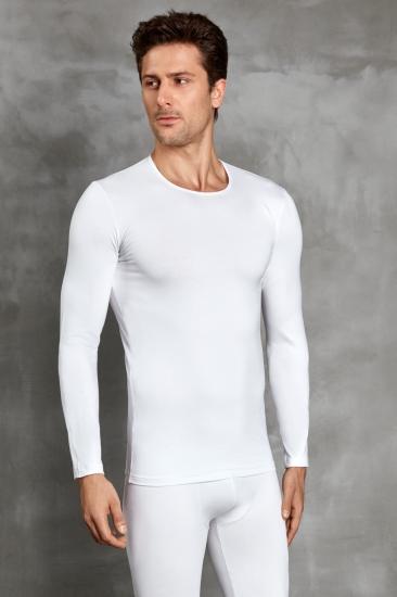doreanse Мужская футболка с длинным рукавом термо кремовая 2990
