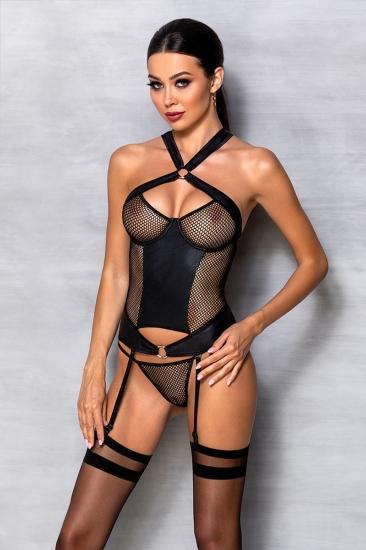 passion lingerie Amanda corset Black
