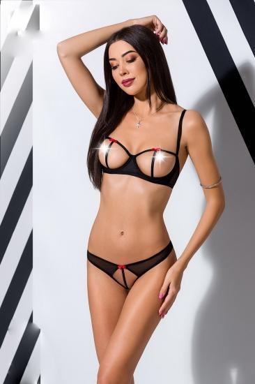 passion lingerie Heidi set with open bra комплект
