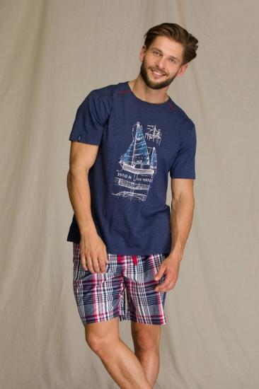 key MNS 710 A21 Пижама мужская с шортами