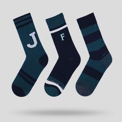 John Frank Носки мужские зеленые JOHN FRANK - комплект из 3 пар с принтом размер 40-45 Зеленый