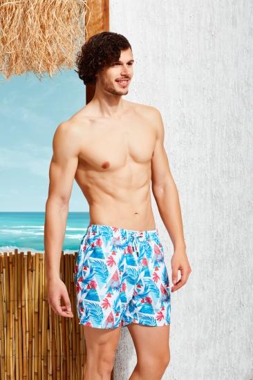 Плавки Doreanse Мужские шорты-плавки белые с принтом California DOREANSE 3812