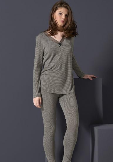 rebecca & bross. Шелковистая вискозная пижама R&B_3818