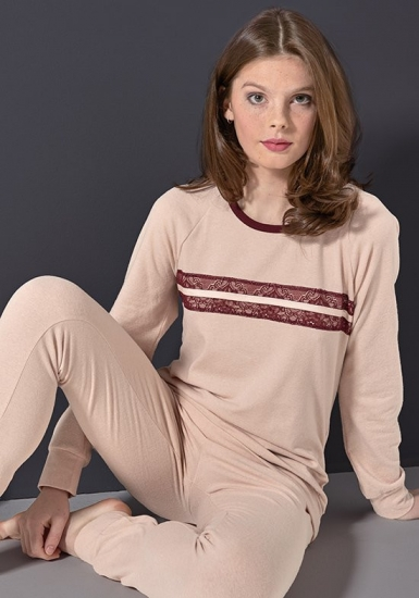 rebecca & bross. Пижама женская, цвет  - пудра R&B_3823