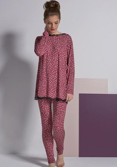 rebecca & bross. Пестрая пижама из мягкой вискозы R&B_3826