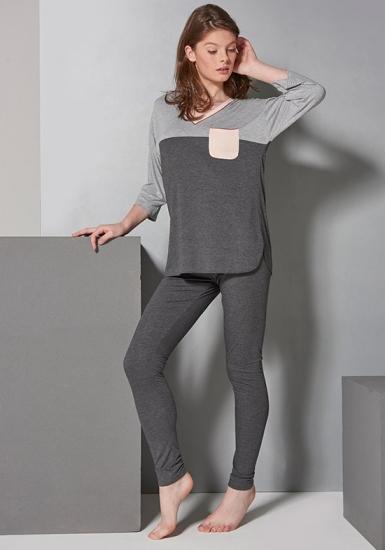 rebecca & bross. Пижама с V-образным вырезом R&B_3830