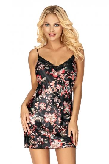 donna сорочка Paris nightdress Black