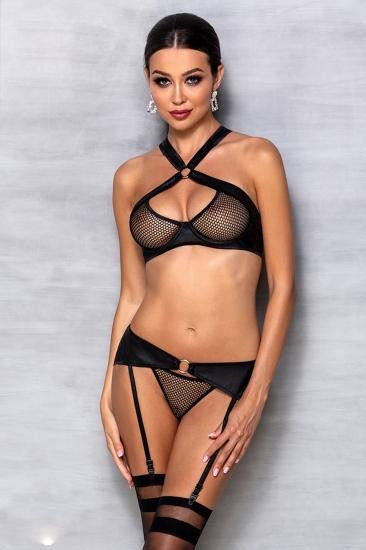 passion lingerie Amanda set Black комплект
