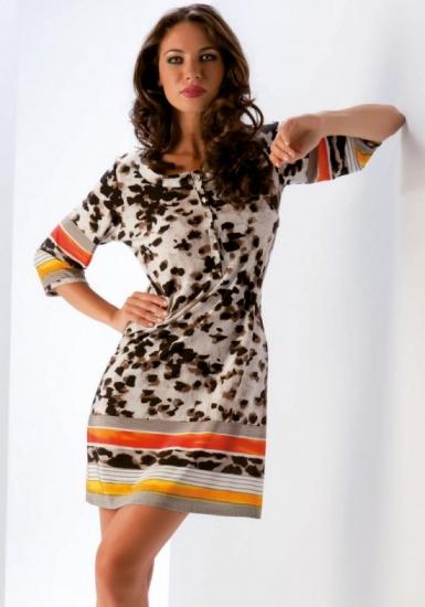 b&b Летнее платье интересной расцветки B&B_4555
