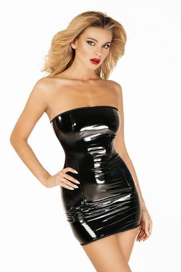 devil & angel 7044 Платье лакированное размер XS/S Черный