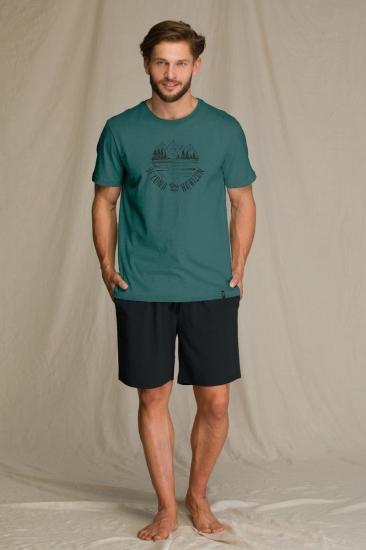 key MNS 709 A21 Пижама мужская с шортами