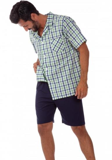 b&b Летняя мужская пижама из льна и хлопка B&B_U511