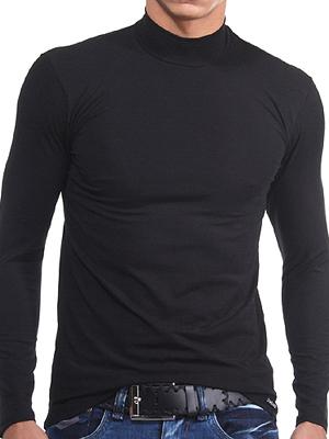 Футболка Doreanse Мужская футболка с длинным рукавом черная 2930