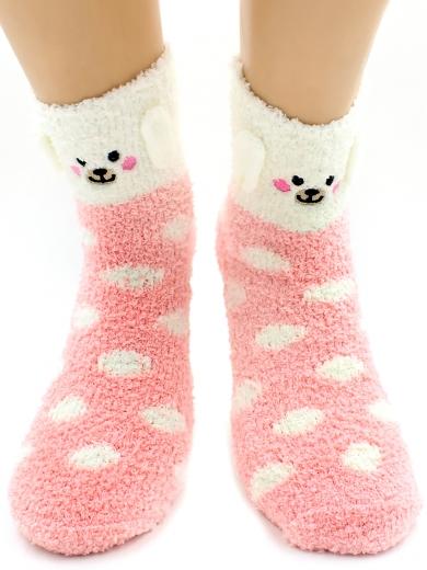 """HOBBY 3315-2 носки детские махровые травка """"Собачка 3Д"""""""