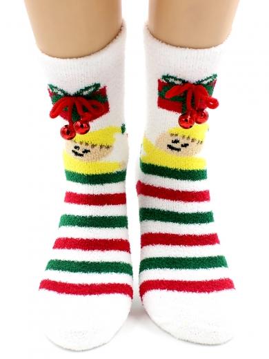 """HOBBY 2218-5 носки махровые-пенка """"Новогодние бубенчики"""""""
