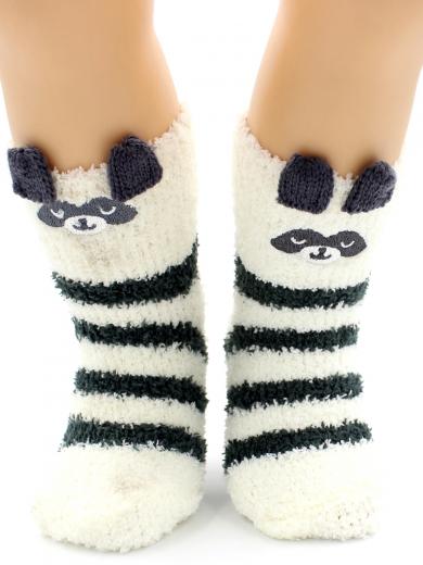 """HOBBY 3317-2 носки детские махровые травка """"Пандочка 3Д"""""""