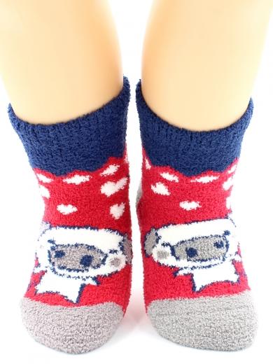 """HOBBY 3329 носки детские махровые пенка """"Влюбленные поросята"""""""
