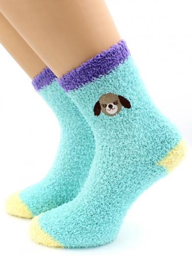 HOBBY 2223-1 носки махровые-травка, вышита собачка