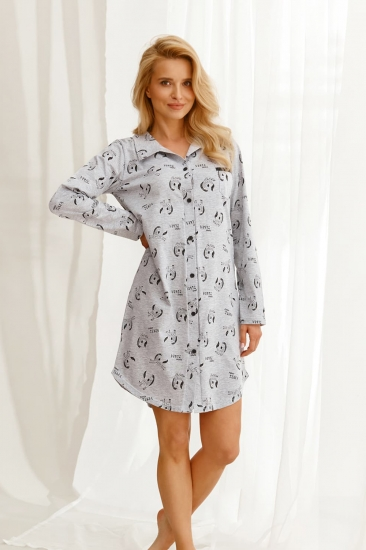 taro 22W Celine 2583-02 стильная сорочка-рубашка на пуговицах