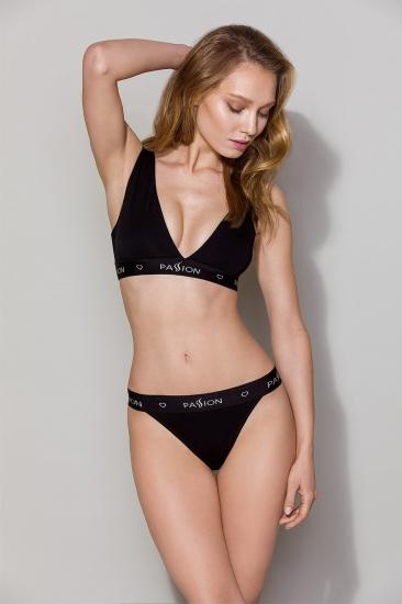 Трусы passion lingerie PS015 panties Black трусики-слипы