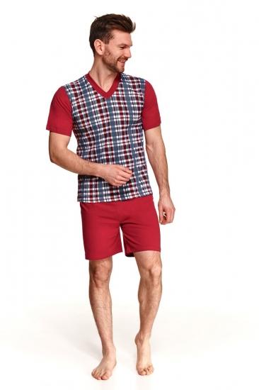 taro 002/001/294 SS21 ROMAN Пижама мужская с шортами размер XL Красный