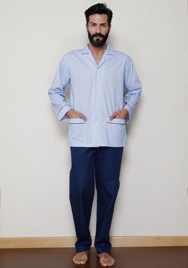 b&b Итальянская хлопковая пижама для мужчин B&B_U7516