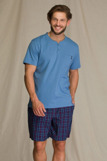 key MNS 223 A21 Пижама мужская с шортами