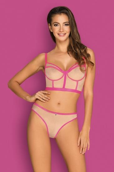 obsessive Nudelia top & panties Pink