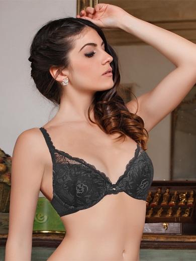 Бюстгальтер dimanche lingerie Бюст Jespe (пуш-ап гель) Fantasia 1150 размер 3B Чёрный