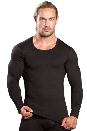 Doreanse Мужская термофутболка черная с длинным рукавом 2960