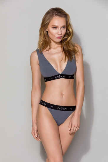 Бюстгальтер passion lingerie PS015 top Dark Grey бюстгальтер-топ