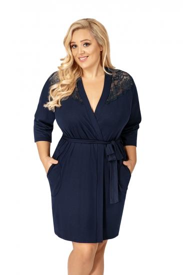donna Tess plus dressing gown Dark Blue халат