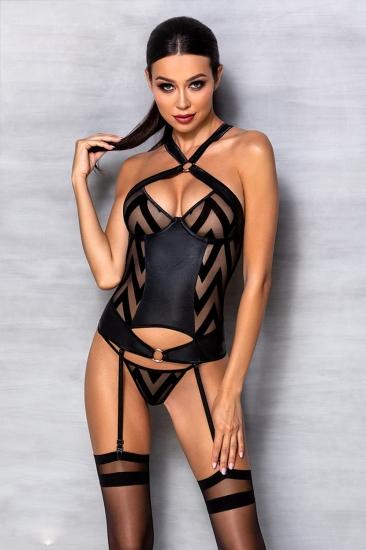 passion lingerie Hima corset Black Корсет