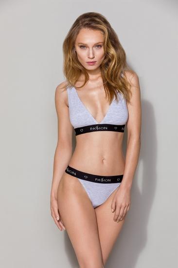 Трусы passion lingerie PS015 panties Grey трусики-слипы