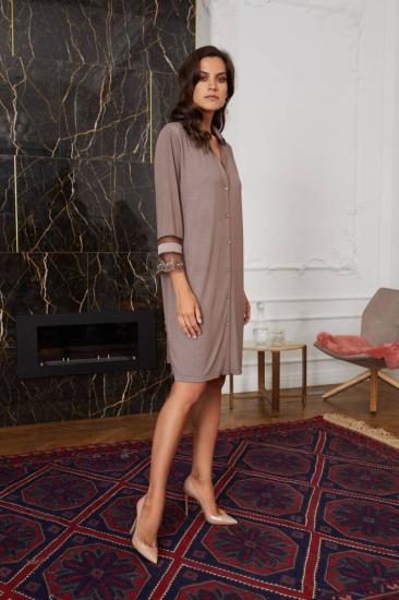 laete Туника-рубашка женская (51836Y) XL (50) какао