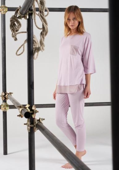 rebecca & bross. Трикотажная женская пижама из вискозы R&B_3712