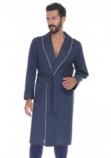 b&b Летний мужской темно-синий халат B&B_Siena