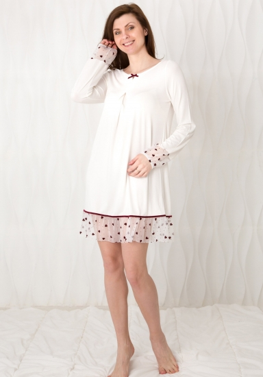 bisbigli Романтичная ночная сорочка с сердечками Bis_02219