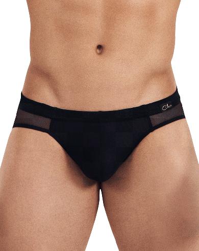 Трусы clever Мужские слипы черные с прозрачной вставкой сзади Clever STRAGE LATIN BRIEF 030111