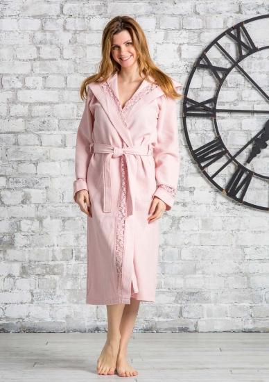 gianfranco ferrari Вафельный халат с капюшоном GFF_Giuliana rosa