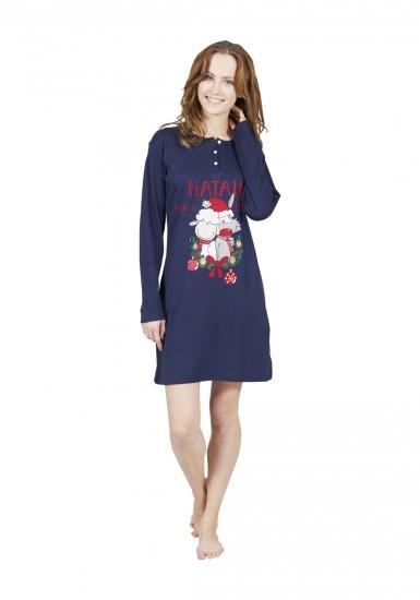 happy people Домашнее платье с новогодним рисунком HP_4806